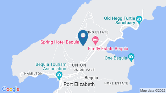 Spring Hotel Bequia Map