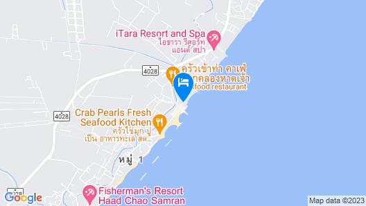 Chomtalay Resort at Had Chaosamran Beach Map