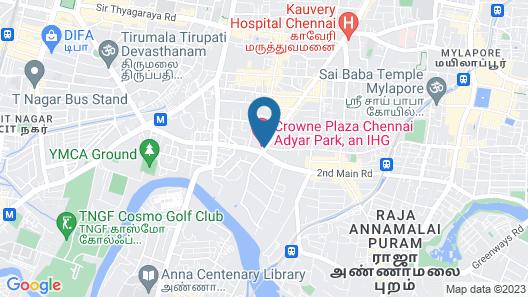 Crowne Plaza Chennai Adyar Park, an IHG Hotel Map