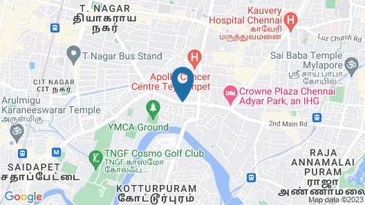 Novotel Chennai Chamiers Road Hotel Map