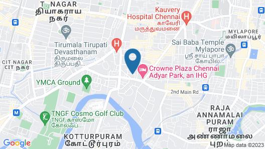 Kolam Serviced Apartments - Alwarpet Map