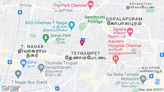 Hyatt Regency Chennai Map