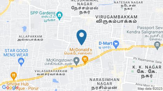 OYO 14934 Kalyani Grand Map