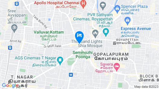 The Park Chennai Map