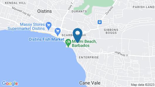 Cumber's Tropical Apartments Map