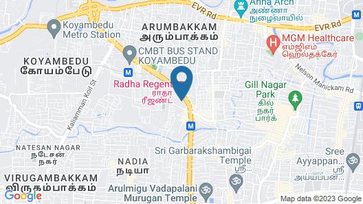 Chennai guest house Map