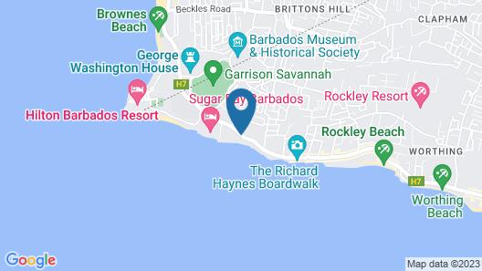 Coconut Court Beach Hotel Map