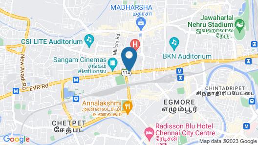 Abu Sarovar Portico, Chennai - Kilpauk Map