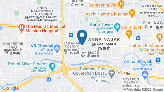 FabHotel Flamingo Anna Nagar Map