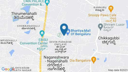 The Leela Bhartiya City Bengaluru Map