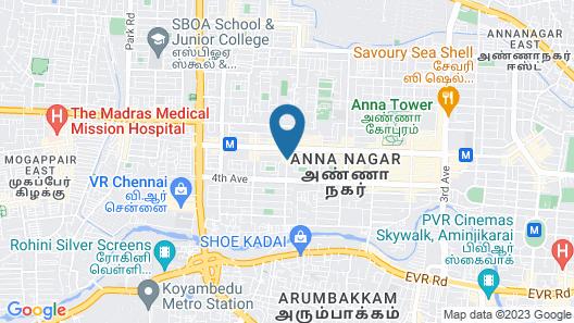 OYO 1001 Palmtree Corporate Anna Nagar Map