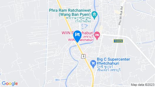 Baandin Resort and Restaurant Map