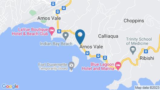 Sunset Shores Beach Hotel Map