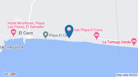 Hotel Cucolindo Surf Map