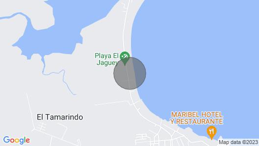 El Tamarindo Beach, El Salvador With all the Amenities! Map