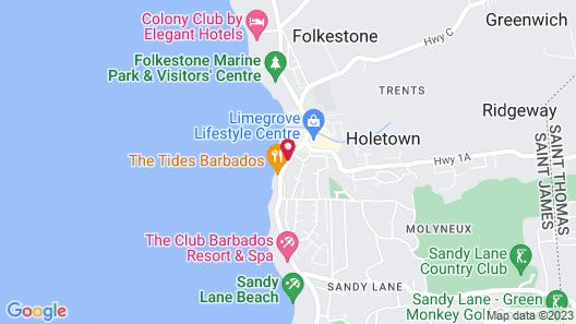 Tropical Sunset Beach Apartment Hotel Map