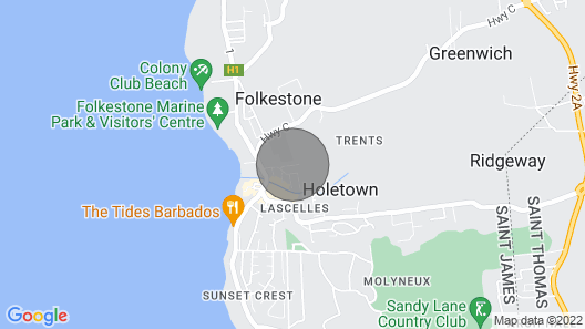 Welcome to Your Caribbean Vacation Home, Minutes From the Beach Map