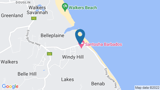 Santosha Barbados Map