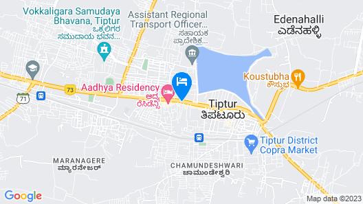 Hotel B M Shree Residency Map