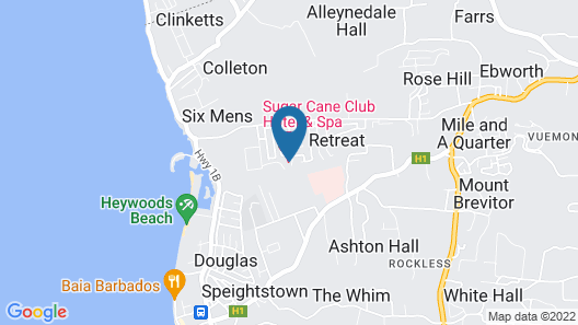 Sugar Cane Club Hotel And Spa - Adults Only Map