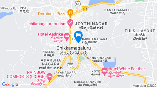 The Gateway Hotel Chikmagalur Map