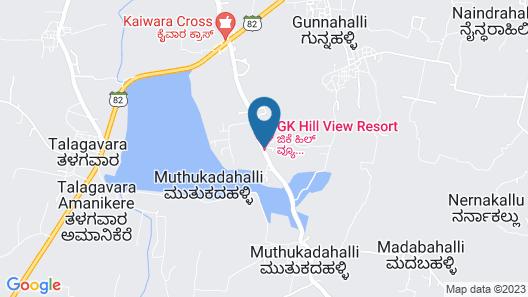 GK Hill View Resort, Kaiwara Map