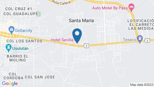 Hotel Sevilla Usulutan Map