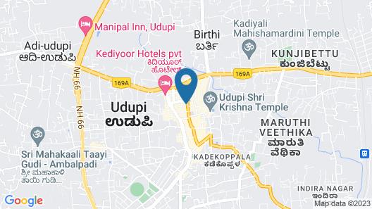 Treebo Trip Udupi Heights Map
