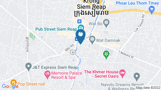 Rambutan Resort Siem Reap Map