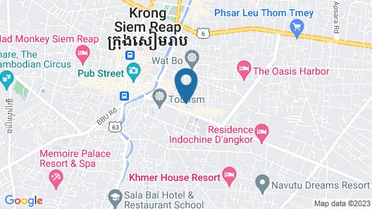 Central Corner d'Angkor Map