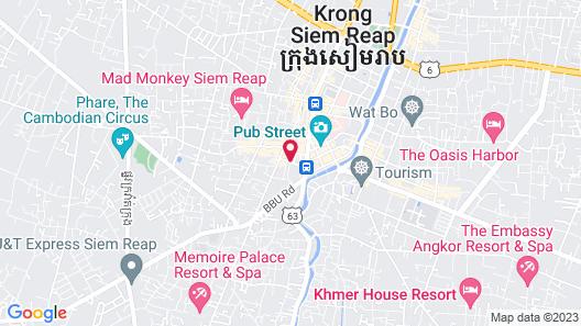 Adventure Siem Reap Lodge Map