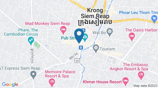 Khmer Mansion Boutique Hotel Map