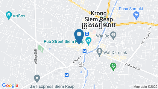 Onederz Hostel Siem Reap Map