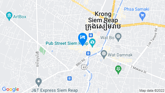 Onederz Hostel Siem Reap Map