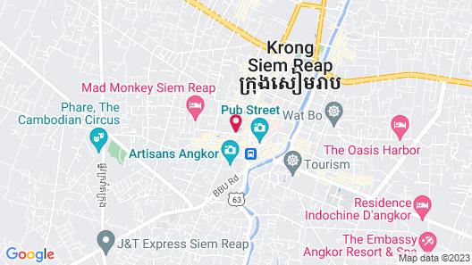 Siem Reap Pub Hostel Map