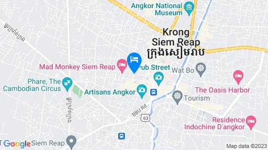 Angkor City View Hotel Map