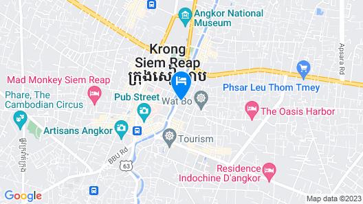 La Résidence d'Angkor, A Belmond Hotel, Siem Reap Map