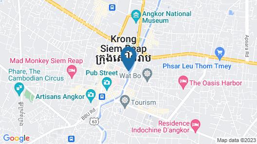 La Rivière d' Angkor Resort Map