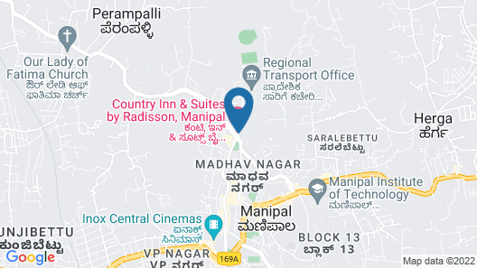 Country Inn & Suites by Radisson, Manipal Map