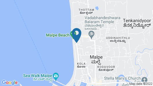 Paradise Isle Beach Resort Map