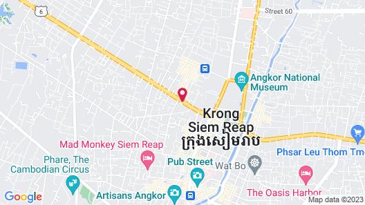 Angkor Paradise Hotel Map