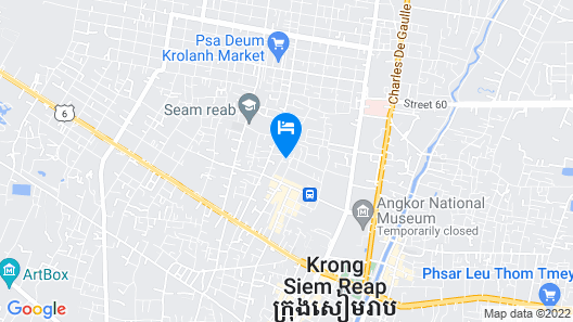 Saem Siemreap Hotel Map