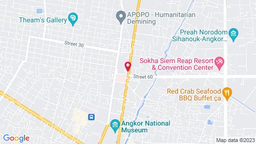 Le Meridien Angkor Map