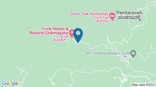 Trivik Hotels & Resorts, Chikmagalur Map
