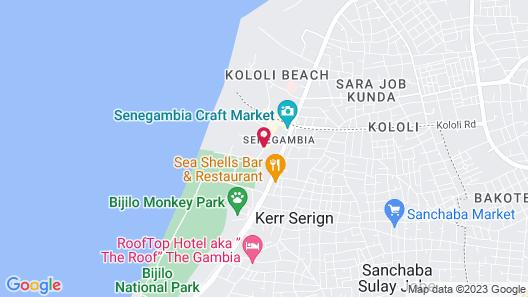 Kololi Beach Club Map