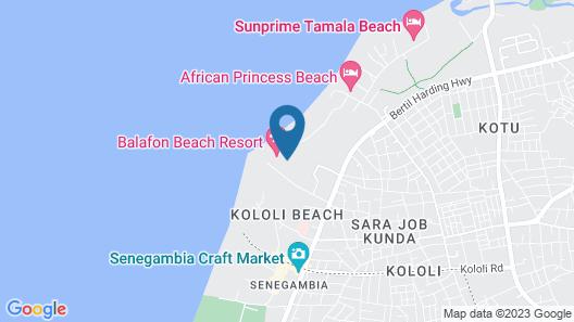 Balafon Beach Resort Map