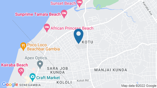 Wavecrest Hotel Gambia- Apartments Map