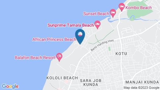 African Princess Beach Hotel Map