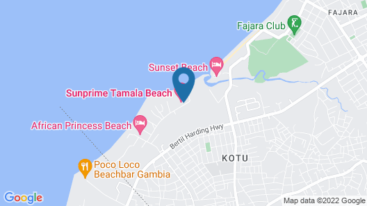 Sunprime Tamala Beach Resort Map