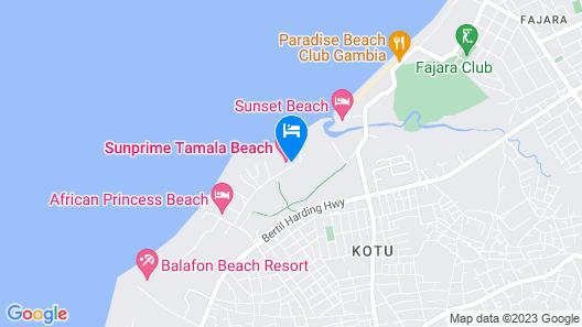 Sunprime Tamala Beach Resort Map